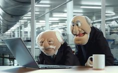 Statler and Waldorf Jim Henson, Statler Et Waldorf, Comedy, Tv Adverts, Grumpy Old Men, The Muppet Show, Rainbow Connection, Crumpets, Halloween