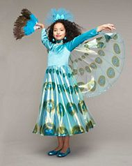 Peacock Princess Costume for Girls