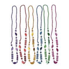 Bright Graduation Beaded Necklaces - OrientalTrading.com