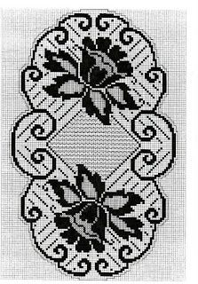 This Pin was discovered by Sul Filet Crochet Charts, Crochet Motif, Crochet Designs, Crochet Doilies, Knit Crochet, Crochet Table Runner, Crochet Tablecloth, Doily Patterns, Crochet Patterns