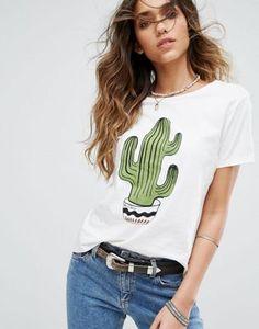 Pimkie – T-Shirt mit Kaktus-Motiv