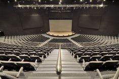 DBM Architects | Rivers Church Campus Santon Johannesburg - Places of Worship Church Building, Building Ideas, Building Plans, Building Design, Theatrical Scenery, Church Stage Design, Church Architecture, Place Of Worship, Performing Arts