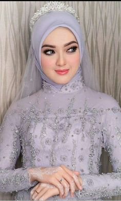 Inspired by Wedding Day Weddings Your Big Day Hijabi Wedding, Wedding Hijab Styles, Kebaya Wedding, Muslimah Wedding Dress, Muslim Wedding Dresses, Hijab Bride, Muslim Brides, Wedding Poses, Dream Wedding Dresses