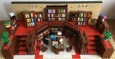 Library his set features a lot of fun details to build, including angled shelves, and a raised section. Additional accessories include a table and chairs, lamps, an armchair, several plants, a tiled floor - and of course, plenty of books! Certain features can be moved around to create a different look if this is wanted. https://ideas.lego.com/projects/870d1817-1aec-438f-a87d-67fe778e3a90