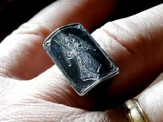 Extremely Rare Antique Georgian Coffin Ring Mourning Mori
