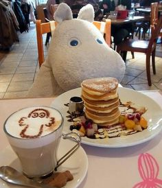 Moomin cafe, Tokyo ✔️ (if the staff see you are loving the Moomins they will bring all the different ones to sit with you!)