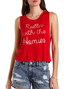 Rollin' with The Homies Tank Top: Charlotte Russe
