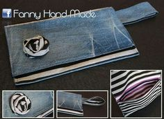 Pochette jeans e tessuto