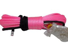 1/2inch*30m pink synthetic winch rope cable with thimble sheath,4x4 uhmwpe rope