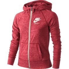 Nike Girls' Gym Vintage Full Zip Hoodie, Size: Small, Ember Glow