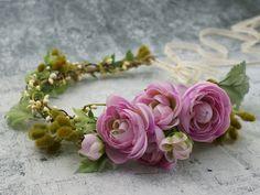 ♥+Blumenkrone+♥+Blumenkranz+♥+Elfenkrone+♥+von+Lola+White+auf+DaWanda.com