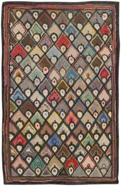 Vintage American Hooked Rug 45659 Main Image - By Nazmiyal