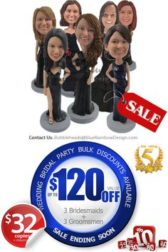 Custom Bobblehead Bridesmaids Gift by BobbleheadsEtsyShop on Etsy