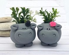 Your place to buy and sell all things handmade Ceramic Animals, Ceramic Art, Clay Projects, Clay Crafts, Significant Other Gifts, Mini Vasos, Lighted Wine Bottles, Potted Plants, Plant Pots