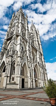 Panorama of The Basílica del Voto Nacional (Towers), Quito, Ecuador Why Wait. The World Awaits Your Footprints. www.whywaittravels.com 866-680-3211 #travelspecialist  Facebook: Why Wait Travels -- CruiseOne Twitter: @contreniatrvels