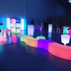 Brighten up your event in style with Yahire's new led furniture #furniture #led #events #eventprofs #london #chairhire #yahire