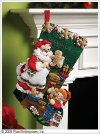 Bucilla ® Seasonal - Felt - Stocking Kits - Christmas Cookies.#bucilla #stockings #christmas #plaidcrafts