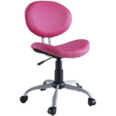 Comfort Groove Swivel Pink Mesh Task Chair - Overstock™ Shopping - Great Deals on Modway Office Chairs Pink Desk Chair, Swivel Office Chair, Mesh Office Chair, Home Office Chairs, Home Office Furniture, Desk Chairs, Furniture Chairs, Office Desk, Contemporary Office Chairs