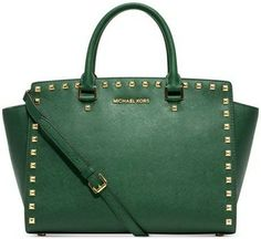 Michael Kors Selma Stud Large - Malachite Malachite- Green Bag - Satchel $299