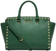 Michael Kors Selma Stud Large - Malachite Malachite- Green Bag - Satchel $299