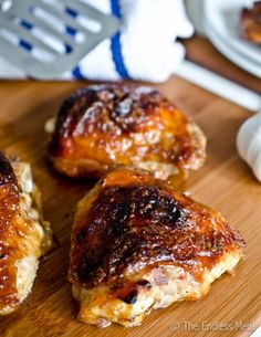 Honey Garlic Chicken  - So yummy and easy - AND QUICK!  Doesn't need the molasses if you don't have any.