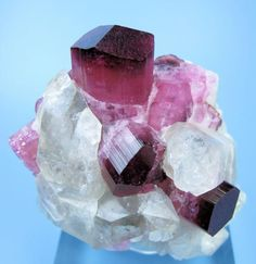 Elbaite, quartz, from Burma