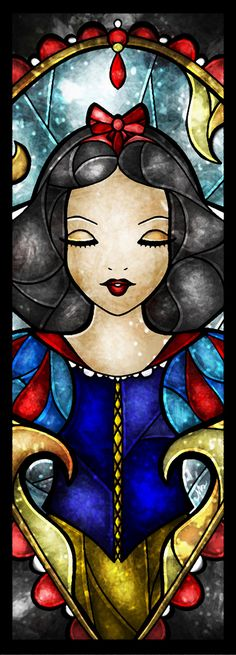 """""""The Fairest"""" Snow White Stained Glass Art"""