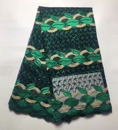 >> Click to Buy << green french lace fabric with beads and stones very beautiful for nigerian women dress 5yard/lot SS01 #Affiliate