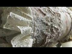 Ruffled Shabby Chic Altered Pillow Tutorial - YouTube