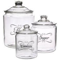 decals for kitchen | Vinyl Decals for kitchen jars | Cricut ideas