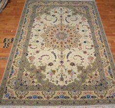 6'x9' Hand-knotted Wool n Silk Oriental Persian Tabriz Area Rug ~New35