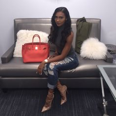 Shaniece Hairston Press Day Outfit in LA Get the Look OOTD on Access Hollywood Live