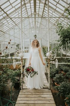 bridals in a greenhouse - yes please!