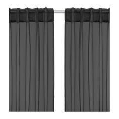 SARITA Pair of curtains IKEA The curtains let the light through but provide privacy so they are perfect to use in a layered window solution.