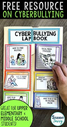 Free teaching resource that educates Upper Elementary and Middle School students about the dangers of cyberbullying! Teach students the importance of protecting themselves while using technology. Free Teaching Resources, Reading Resources, Teaching Tips, 5th Grade Activities, Health Activities, Teacher Freebies, Teacher Blogs, Sixth Grade, Third Grade