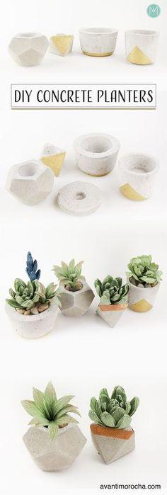 DIY Concrete Planters   Macetas De Concreto / Wedding Favors / Home Decor