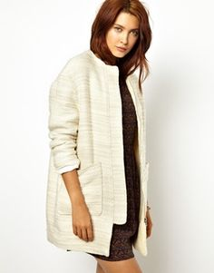 Sessun Volta Boucle Coat with Teddy Fur Lining