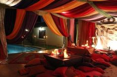 All Arabian / Moroccan / Indian type set up can be done. We also have a number of items to hire Middle Eastern Decor, Middle Eastern Restaurant, Moroccan Party, Moroccan Decor, Harem Room, Bedouin Tent, Indian Room, Room Inspiration, Design Elements
