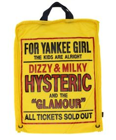 HYSTERIC GLAMOUR LADYS(ヒステリックグラマーレディース)のDIZZY & MILKY pt ナップサック(バックパック/リュック)|イエロー