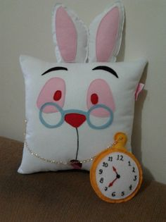 Handmade Alice in Wonderland White Rabbit Plush by RbitencourtUSA, $27.95