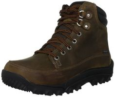 """Timberland Men's Rime Ridge Mid Waterproof Boot Timberland. $69.99. Rubber sole. The oiled leather used in the boot becomes """"scratched"""" whenever it comes in contact with a non-flat surface,and it can be brushed off by taking your thumb and smoothing out the leathers.. leather. Full length eva midsole for shock dispersion. Premium waterproof leather upper. 100% recyceld pet lining for climate control. Waterproof membrane keeps feet dry. 200 grams primaloft insulation for warmth"""