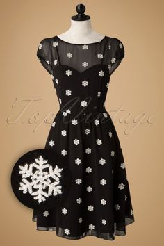 Special little snowflake - love this dress - Vixen Black and White Snowflake A line Dress