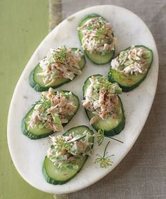 These impressive little appetizers come together quickly, making them perfect for entertaining. Refreshing cucumber provides a nice contrast to the rich crabmeat, so these bites ... read more