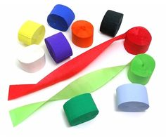 Value pack of Crepe Streamers Assortment!! a good way to buy lots of crepe paper!!