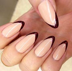 red and nude nails - Google Search