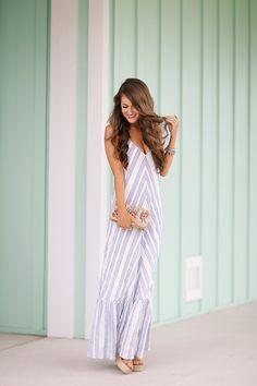 Southern Curls & Pearls: Beach Maxi Dress
