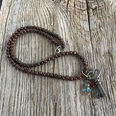 Excited to share the latest addition to my #etsy shop: Brown stones necklace Mahogani obsidian necklace vintage heart skeleton key boho necklace beaded necklace brown necklace http://etsy.me/2n6ot8y #jewelry #necklace  Visit my Etsy store:  Twistedloladesigns.etsy.com