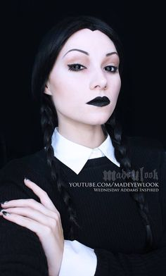 Wednesday Addams tutorial Video tutorial   https://www.youtube.com/watch?v=qxVBX-weBA8