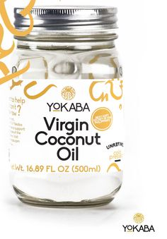 16.89oz. Yokaba Extra Virgin Coconut Oil, Organic, 100% Cold Pressed, Mason Jar #YOKABA Coconut Palm Tree, Extra Virgin Coconut Oil, Aromatherapy Recipes, Trans Fat, Carrier Oils, Organic Oil, Mason Jars, Essential Oils, Cold