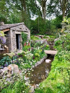 A side view of the Welcome to Yorkshire garden at Chelsea Flower show